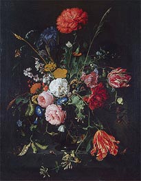 Flowers in a Vase, Undated von de Heem | Gemälde-Reproduktion