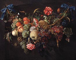 Fruit Garland | de Heem | Painting Reproduction