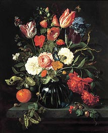 Vase of Flowers | de Heem | Painting Reproduction