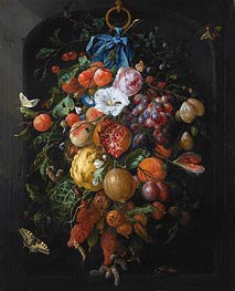 Festoon of Fruit and Flowers | de Heem | Painting Reproduction
