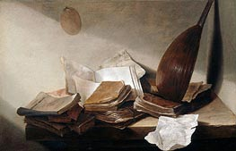 Still Life with Books | de Heem | Painting Reproduction