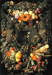 Fruit and Flower Still Life, 1651 by de Heem | Painting Reproduction