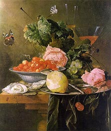 Still Life with Fruit, 1652 by de Heem | Painting Reproduction