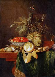 Still Life with Peeled Lemon, 1650 by de Heem | Painting Reproduction