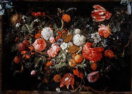 Still Life with Garland of Fruit and Flowers | de Heem | Painting Reproduction