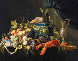 Still Life with Fruit and Lobster, c.1648/49 by de Heem | Painting Reproduction