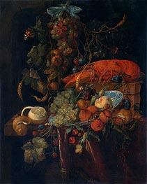 Still Life with Fruit and Lobster, undated by de Heem | Painting Reproduction