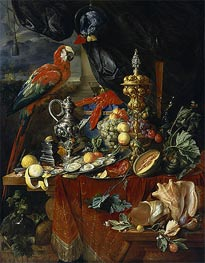 Still Life with Parrots | de Heem | Painting Reproduction