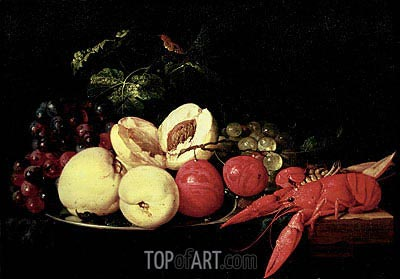 Still Life of Fruit with a Lobster, Undated | de Heem | Painting Reproduction
