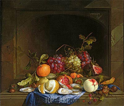 Still Life of Fruit, Undated | de Heem | Painting Reproduction