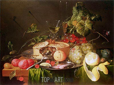 Still Life of Fruit, 1651 | de Heem | Painting Reproduction
