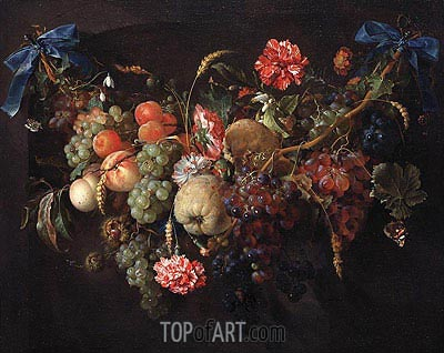 Fruit Garland, c.1650/60  | de Heem | Painting Reproduction