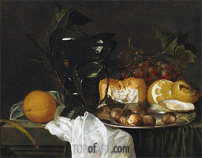Still Life with a Roemer, Undated   de Heem   Painting Reproduction