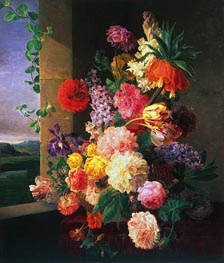 Flowers Before a Window | van Dael | Painting Reproduction