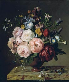 A Vase of Flowers on a Ledge | van Dael | Painting Reproduction