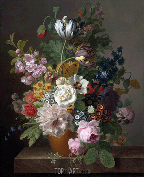 Still Life of Flowers, undated | van Dael | Painting Reproduction