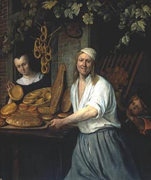Leiden Baker Arend Oostwaert and His Wife | Jan Steen | Painting Reproduction