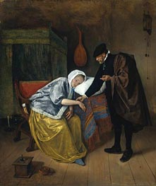 The Sick Woman | Jan Steen | Painting Reproduction