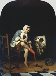 Woman at her Toilet | Jan Steen | Painting Reproduction