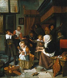 The Feast of Saint Nicholas | Jan Steen | Painting Reproduction