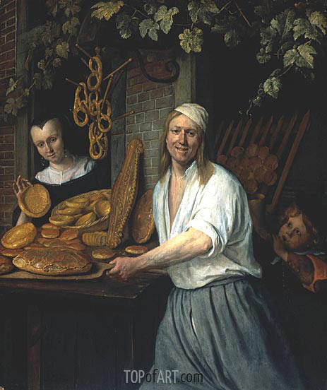 Leiden Baker Arend Oostwaert and His Wife, c.1658 | Jan Steen | Painting Reproduction