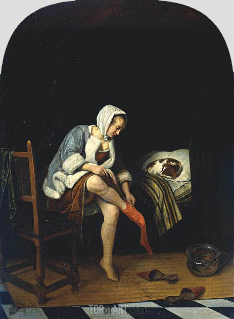 Woman at her Toilet, c.1661/65 | Jan Steen | Painting Reproduction