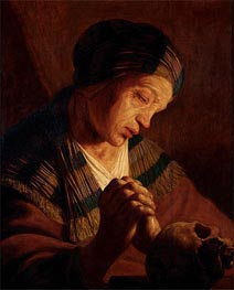 St. Mary Magdalene at Prayer | Jan Lievens | Painting Reproduction
