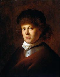 Portrait of Rembrandt van Rijn | Jan Lievens | Painting Reproduction