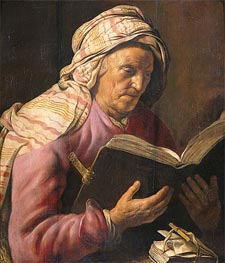 Old Woman Reading | Jan Lievens | Painting Reproduction