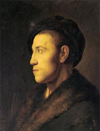 Portrait of a Young Man in Profile | Jan Lievens | Painting Reproduction
