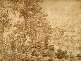 Wooded Landscape | Jan Lievens | Gemälde Reproduktion