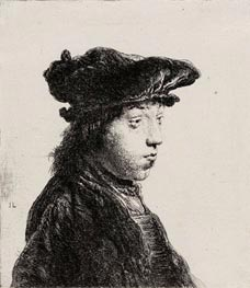 Young Man in a Cap, c.1631 von Jan Lievens | Gemälde-Reproduktion