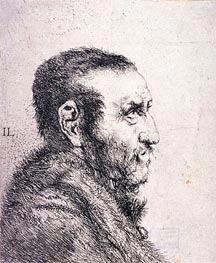 Bust of a Man | Jan Lievens | Painting Reproduction