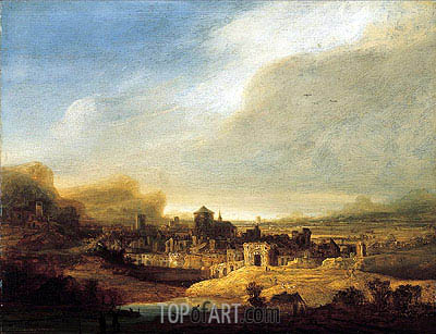 Panoramic Landscape, 1640 | Jan Lievens | Painting Reproduction