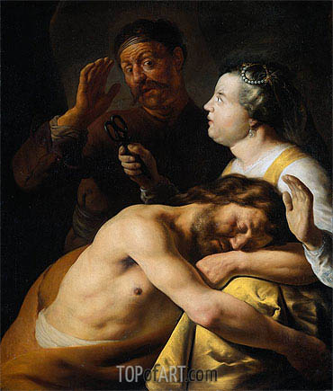 Samson and Delilah, c.1630 | Jan Lievens | Painting Reproduction
