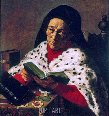 Old Woman Reading, undated | Jan Lievens | Painting Reproduction