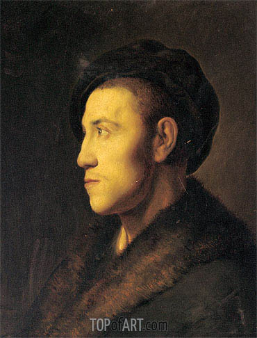 Portrait of a Young Man in Profile, undated | Jan Lievens | Gemälde Reproduktion