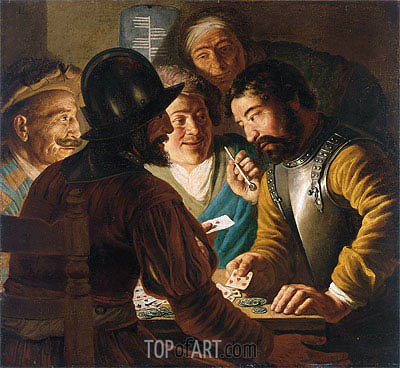 The Card Players, c.1622/24 | Jan Lievens | Painting Reproduction