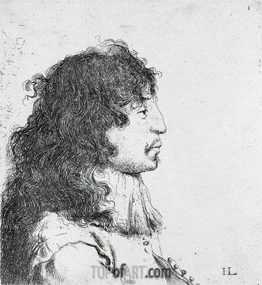 Portrait of a Man (Self Portrait), undated | Jan Lievens | Gemälde Reproduktion