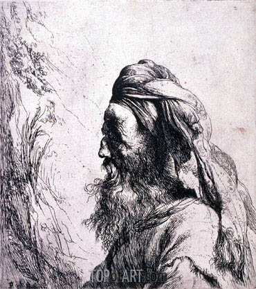 Head of an Oriental, undated | Jan Lievens | Gemälde Reproduktion