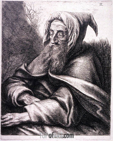 St. Anthony, undated | Jan Lievens | Gemälde Reproduktion