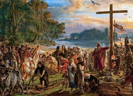 Baptism of Poland, 1889 by Jan Matejko | Painting Reproduction