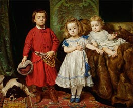 Portrait of the Artist's Children: Tadeusz, Helena and Beata | Jan Matejko | Painting Reproduction