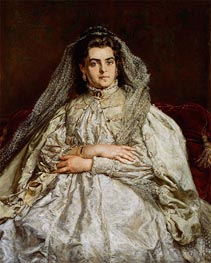 Portrait of the Artist's Wife Teodora | Jan Matejko | Painting Reproduction