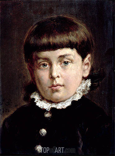 Portrait of a Young Boy, 1883 | Jan Matejko | Gemälde Reproduktion