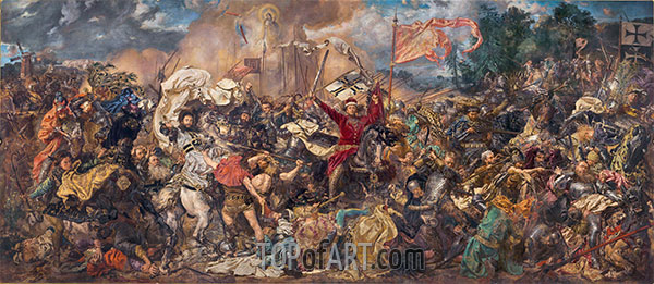 Battle of Grunwald, 1878 | Jan Matejko | Painting Reproduction