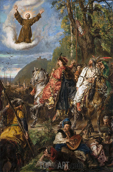 Bohdan Chmielnicki with Tuhaj-bejem near Lviv, 1885 | Jan Matejko | Painting Reproduction