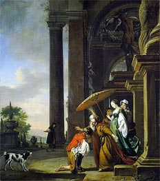 The Return of the Prodigal Son, c.1665/69 von Jan Weenix | Gemälde-Reproduktion