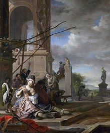 An Italian Courtyard, c.1660/65 by Jan Weenix | Painting Reproduction