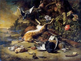 Dead Game and Small Birds, c.1700 by Jan Weenix | Painting Reproduction